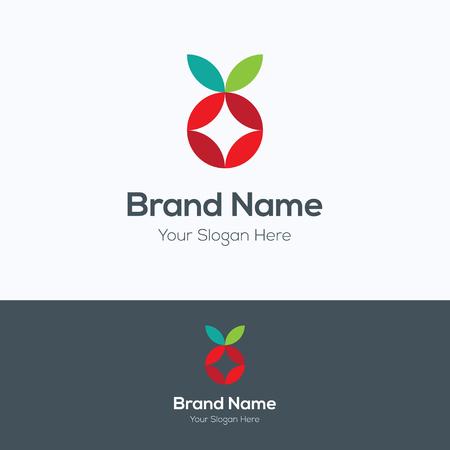 logo de comida: Las manzanas gradiente de colores logo Vectores