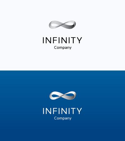 Infinity loop smooth ribbon logo Logó