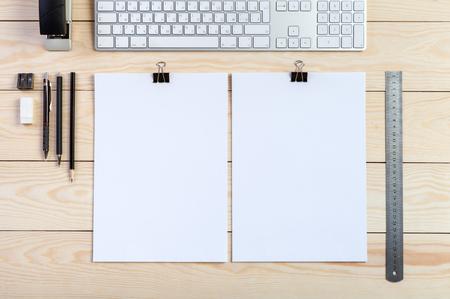 Photo. Resume mockup background. Standard-Bild