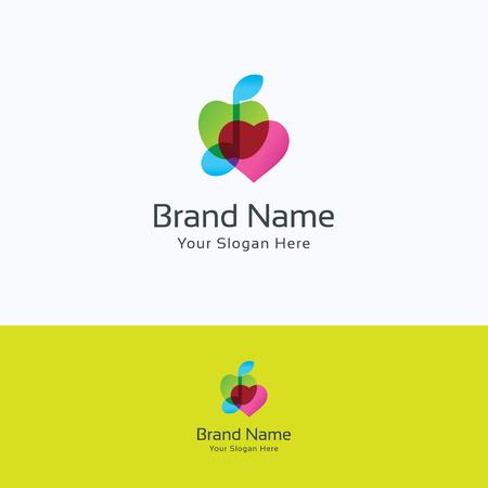saludable logo: Logo de Apple sonido del corazón del amor de nota musical