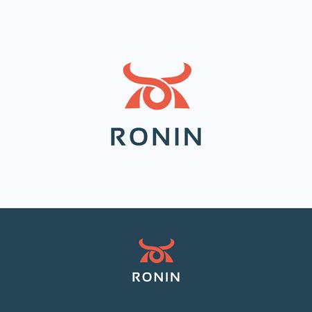 ronin: Face simple ronin man samurai icon