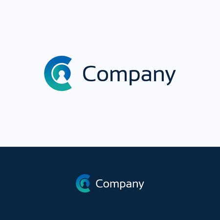 C carta de la compañía alfabeto persona
