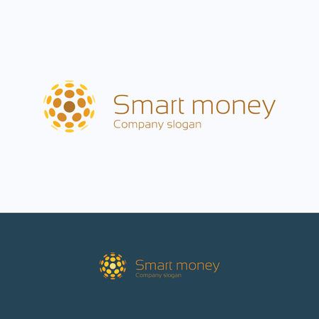 trades: Sphere letter alphabet coin smart logo