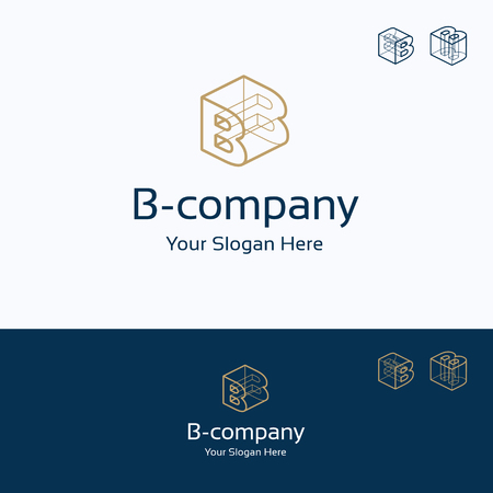 B Company Construction, Technology Isolated, Service Letter 3D ...