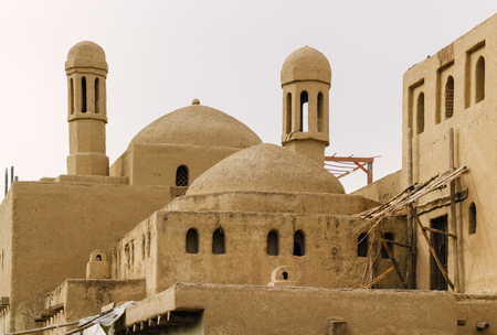 Ancient clay city. Tourist reconstruction. Stok Fotoğraf