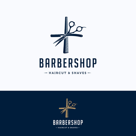 barbershop: Barbershop vintage design Illustration