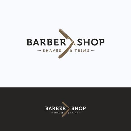 barbershop: Barbershop vintage design template Illustration