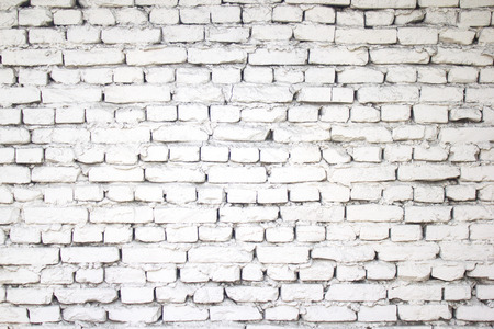 Brick wall texture background. white old street wall.