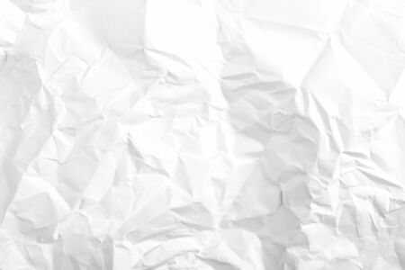 White crumpled paper with texture. For mock up  Banco de Imagens