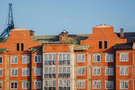 Photo of residential building construction. Фото со стока