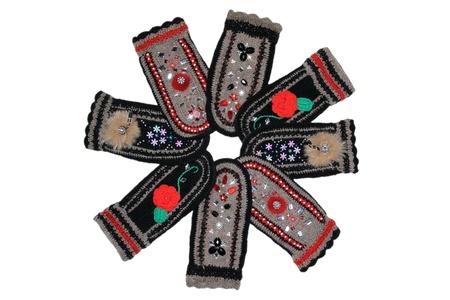 the mittens: Mitones de lana