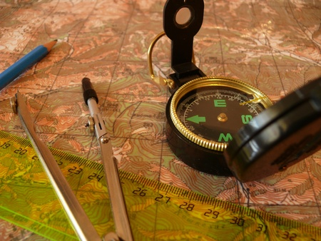 azimuth: Orientation on a topographic map