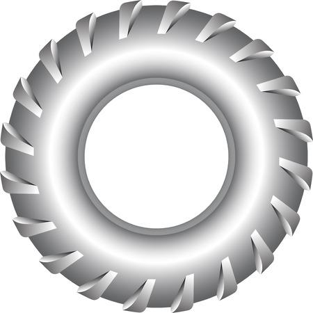 vulcanization: car wheel