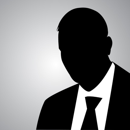 looking away: businessman silhouette Illustration