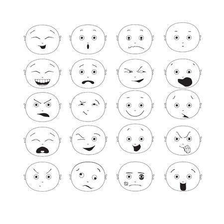 emoticon set Illustration
