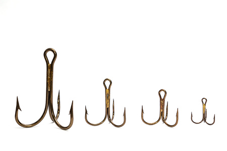 fish hook on white background with clipping path Stock Photo