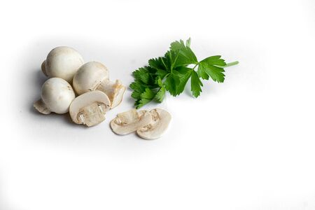 Champignon mushroom isolated on white background Stock Photo