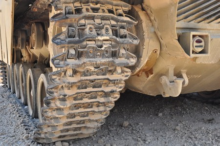 Caterpillar of the tank , colored photo . Stock Photo - 7423907