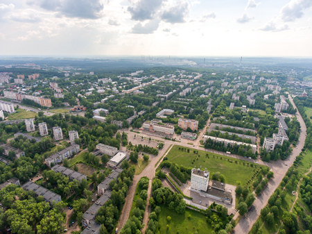 top view on the panorama of city - Kirovo-Chepetsk Russia.