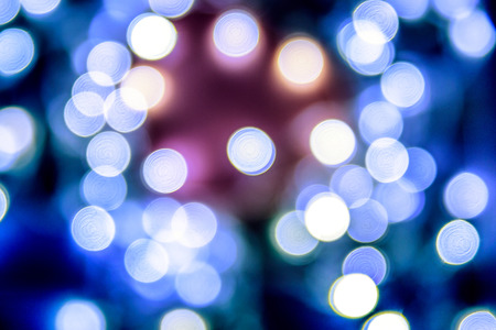 glint: Blue Festive Christmas elegant abstract background with bokeh lights