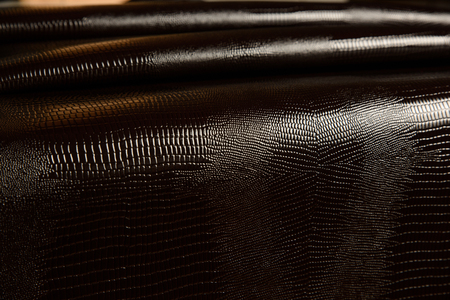 dark leather texture background close up macro Stock Photo