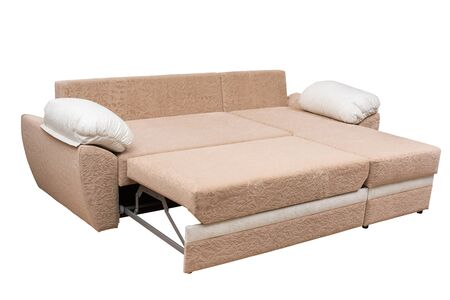Comfortable sofa on white background 스톡 콘텐츠