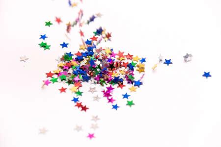 Falling confetti on the white background Stock Photo - 5794891