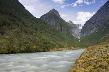 The powerful Briksdal Glacier is a part of the Jostedal Glacier National Park.
