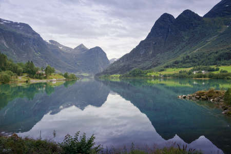 Oldedalen valley - one of the most spectacular areas of natural beauty in Norway Stock Photo - 6607552