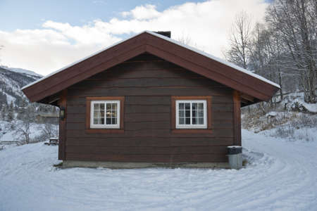 Wooden House in Hemsedal (ski resort), Norway. November