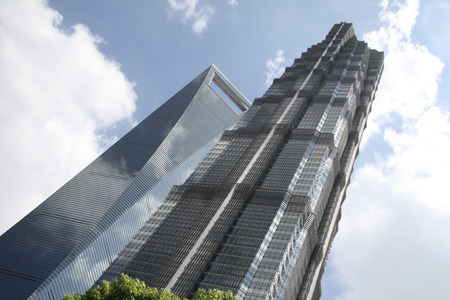jin mao tower: Jin Mao Tower and Shanghai World Financial Centre, Pudong, Shanghai, China