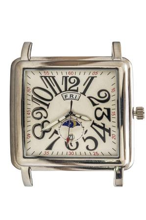 wristwatch: square dial wristwatch Stock Photo