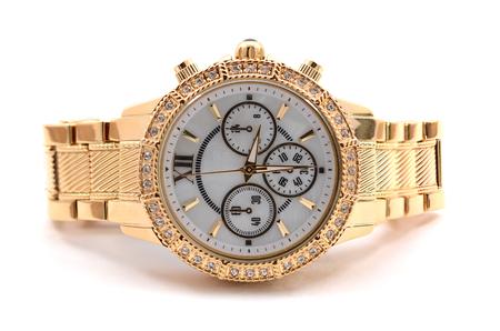 Armbanduhr auf weißem Hintergrund Standard-Bild - 46332040