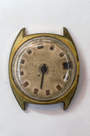 human wrist: old wristwatch
