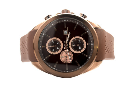 wristwatch: wristwatch with leather strap