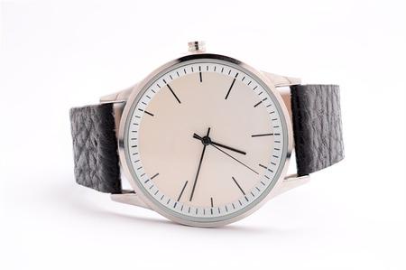 흰색 배경에 남자의 시계