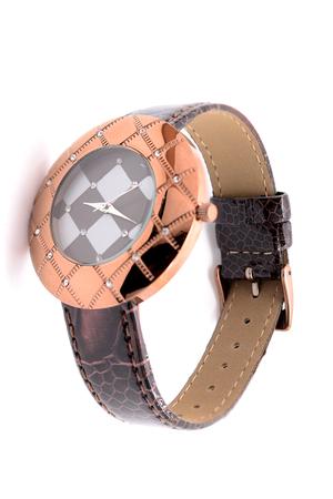 wristwatch: womens wristwatch on white background Stock Photo