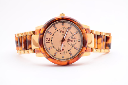 luxe: mens watches on a white background Stock Photo