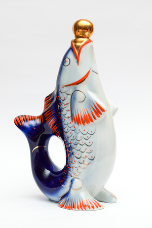 decanter: decanter in the form of fish