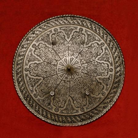 아름다운 고대의 방패 스톡 콘텐츠