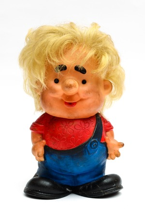 dirty old man: old dirty toy man with hair