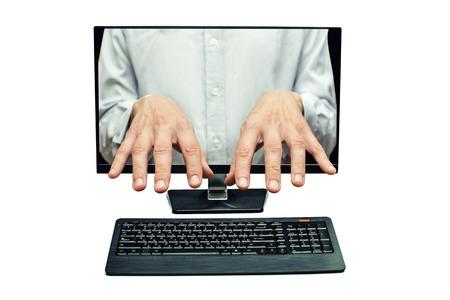 hulp op afstand, afstandsbediening, toegang op afstand Stockfoto