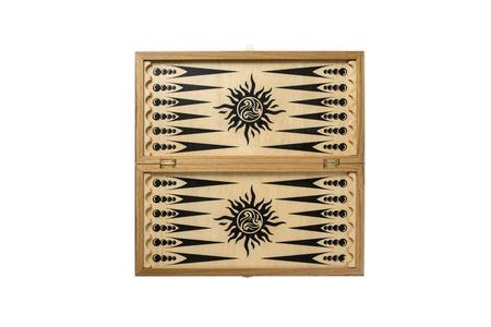 Backgammon on a white background