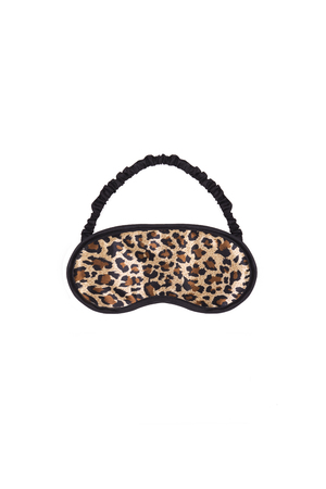 guise: leopard blindfellen on a white background
