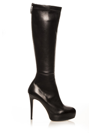 black boots: Womens Black Boots  on a white background