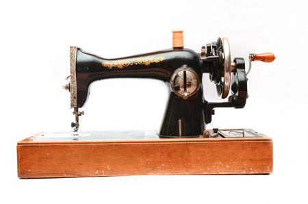 old mechanical sewing machine Banco de Imagens