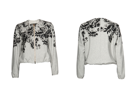 petticoat: Womens light jacket on a white background Stock Photo