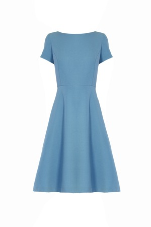 blue dress isolated on white