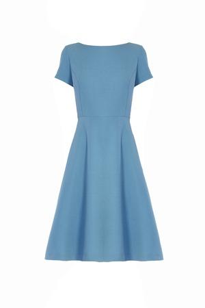 aislado: vestido azul aislado en blanco