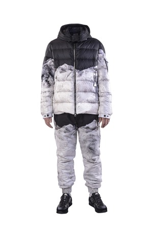 no person: ski suit on a white background